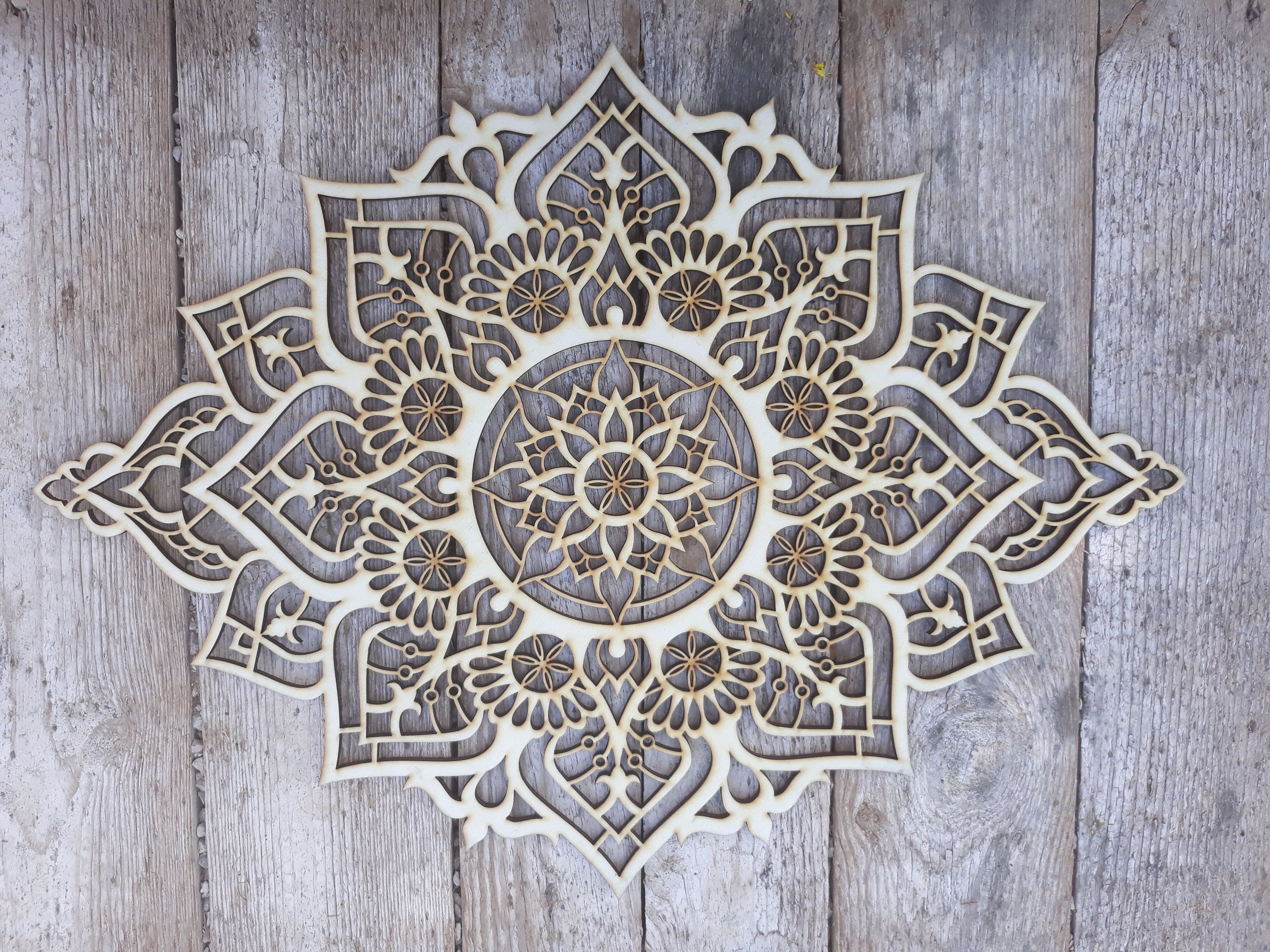 Wood Wall Art Living Room Wall Art Mandala Mandala Wall Art