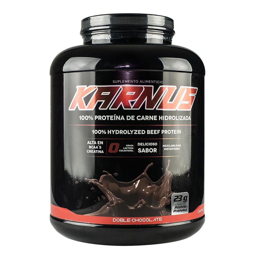 KARNUS/ 100% PROTEINA DE CARNE HIDROLIZADA  Te proporciona la potencia aislada necesaria para la construcción de músculo con niveles de aminoácidos más altos que otras fuentes de proteínas utilizadas en los suplementos , incluyendo suero de leche, soya, leche y huevo. KARNUS aislado de proteína es aún 300% veces mas concentrada en aminoácidos para la construcción del músculo que un filete Premium de CARNE. ! No contiene grasa ni colesterol y si un delicioso sabor! 💪👅