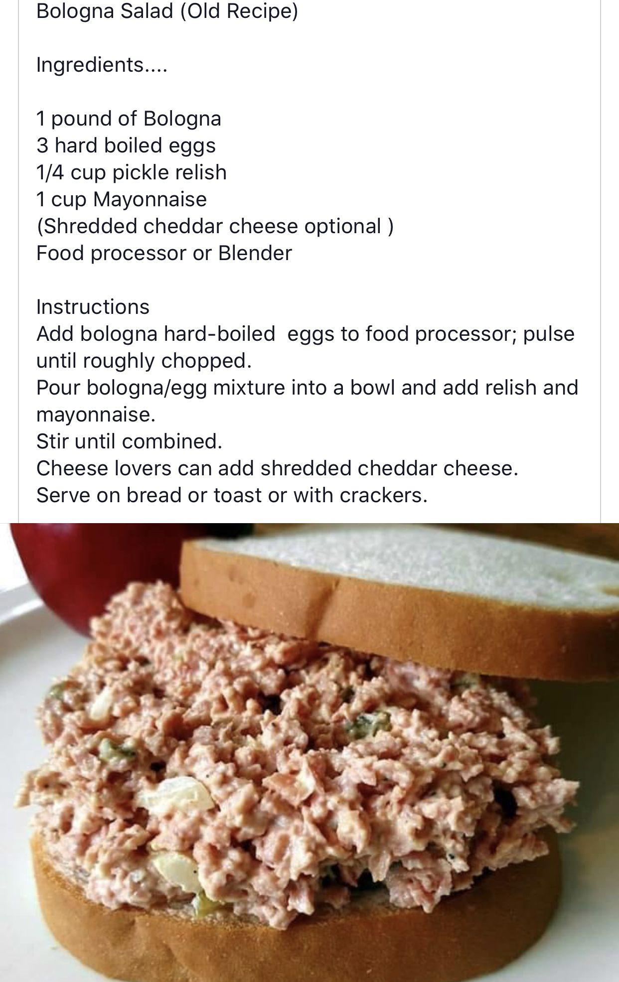 Ham Salad Recipes With Bologna