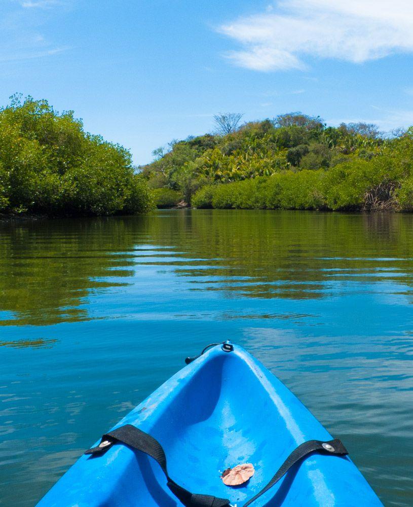 #Kayak heading into the estuary behind TortugasVillas