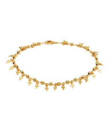 This Gold Mini-Cross Anklet is perfect! #zulilyfinds
