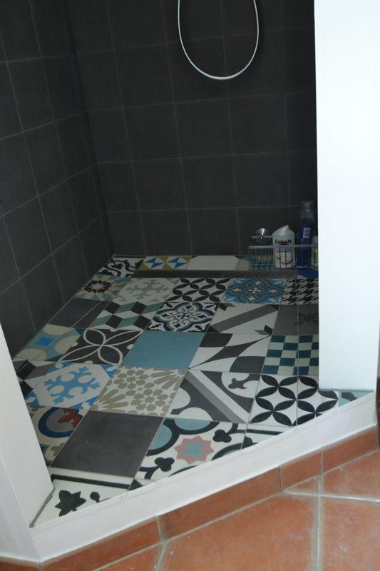 Salle De Bains Renovees Carreaux Ciment Et Beton Cire Meuble Maconne AM DECO Amcodeco Decorateur Paris Suivi Travaux Amelie Colombet
