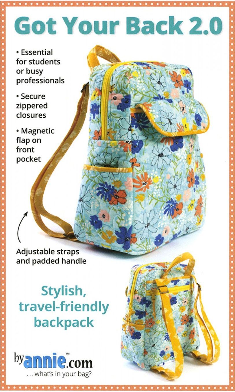 Got Your Back 2 0 Sewing Pattern From Annie Unrein Bag Pattern