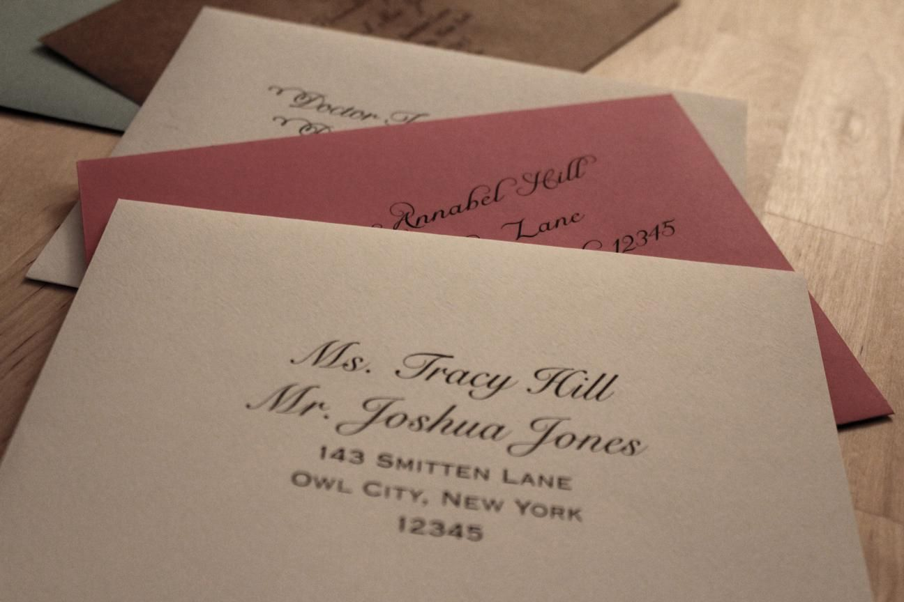 Addressing Wedding Invitations Widow