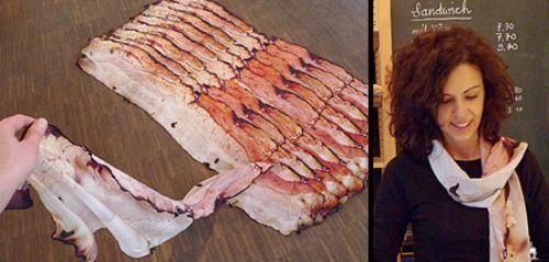 umm...bacon scarf