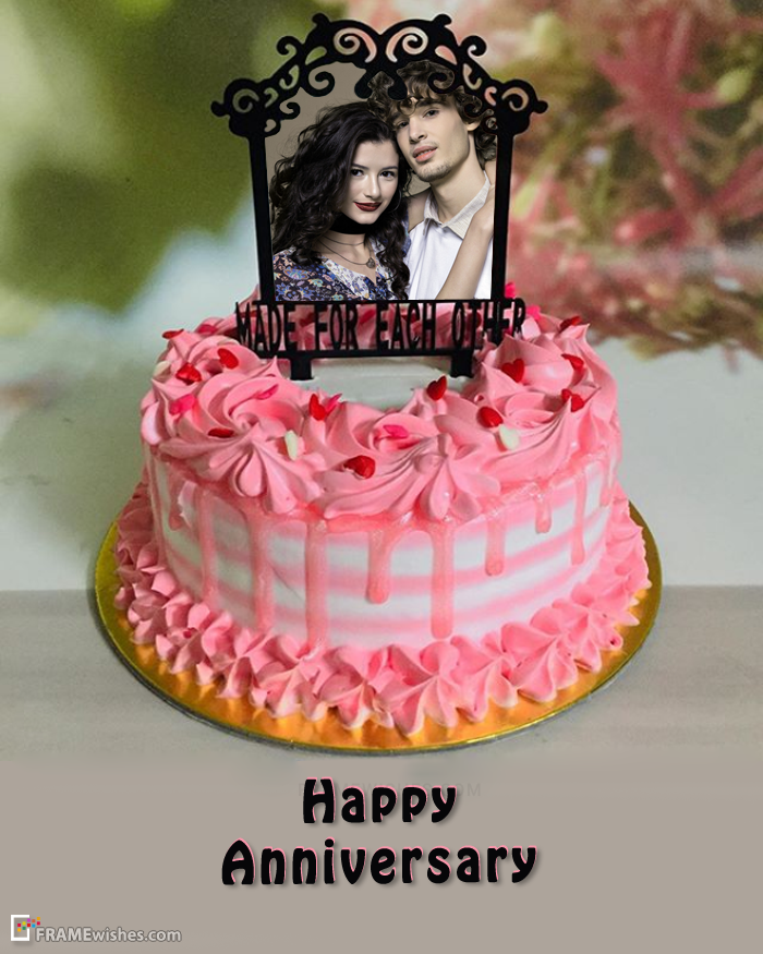 Happy Anniversary Cake with Photo Edit Free in 2020