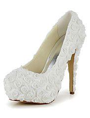Satin Women's Wedding Stiletto Heel Heels Pumps/Heels Shoes(More Colors)