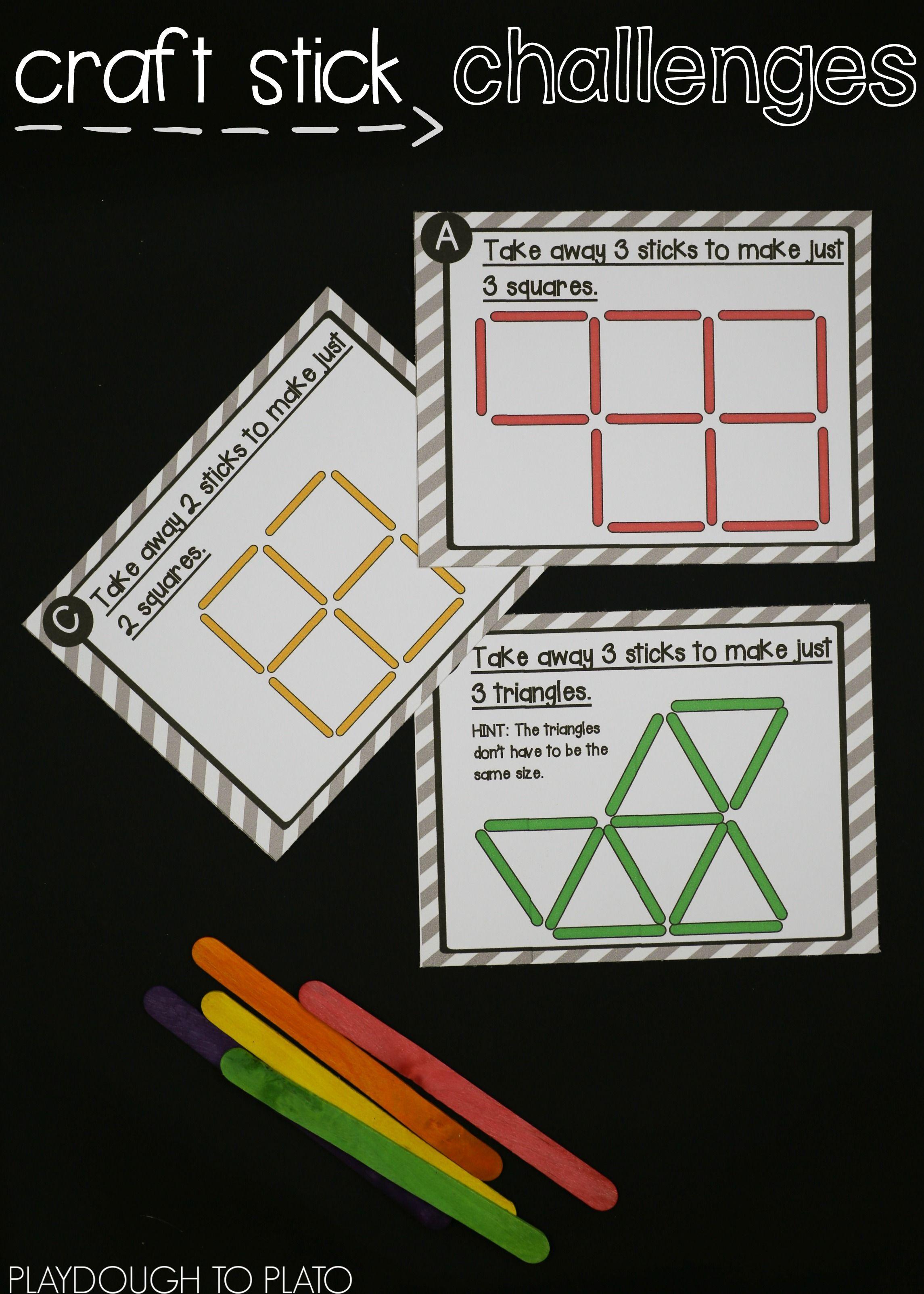 Craft Stick Puzzles