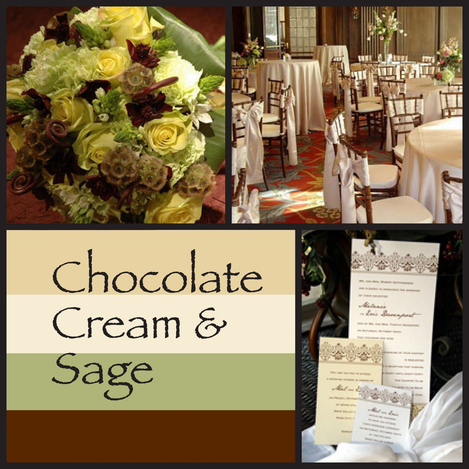 Wedding Invitation Blog Inspiration Board Chocolate Cream Sage