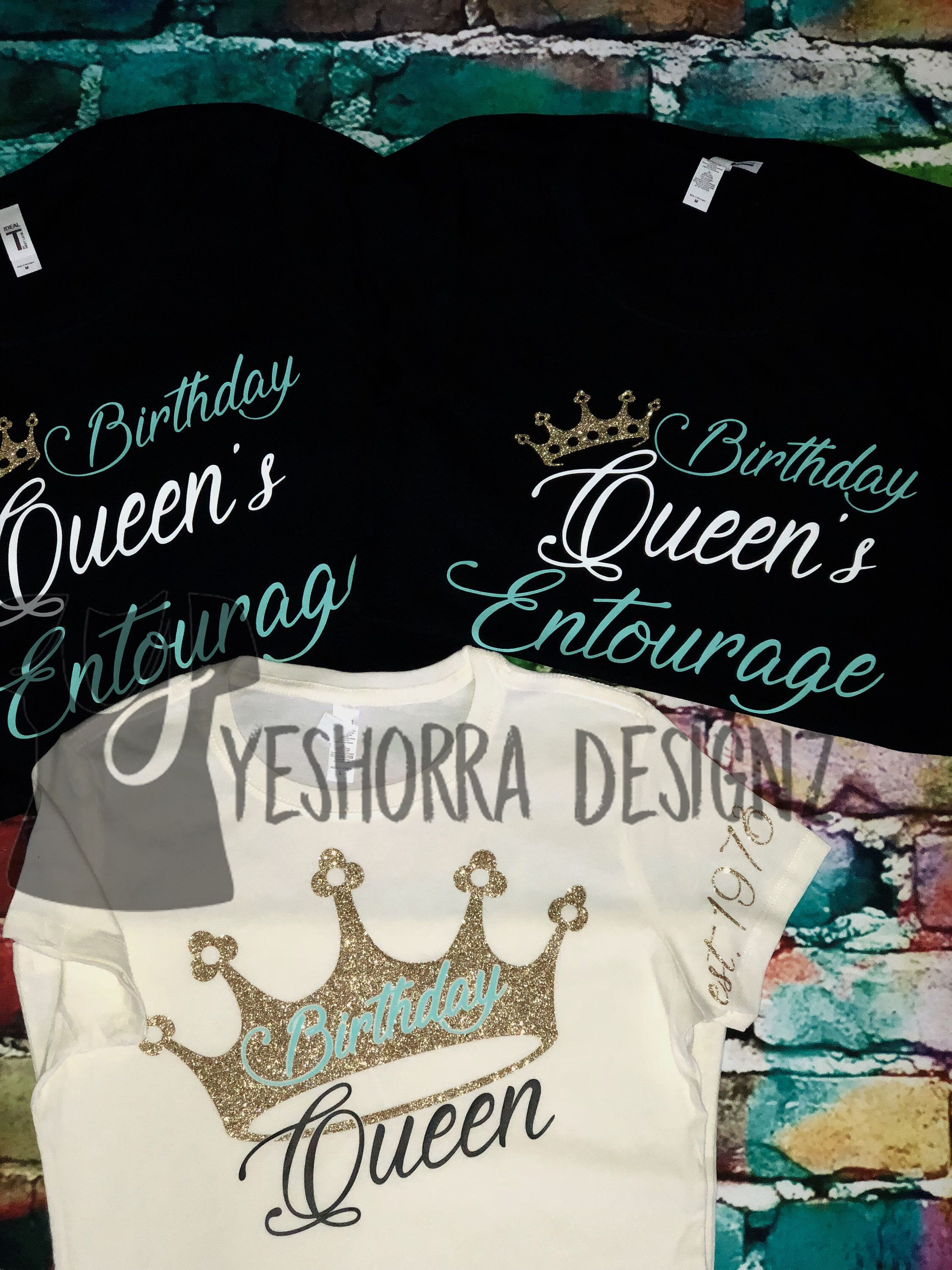 4a833e59c38c Birthday Group Shirts, Birthday Entourage Shirts, Birthday Squad,Birthday  Queen Shirts, Birthday