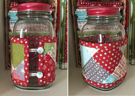 Wrap Jars with Little Quilts for Pretty Gifts -   24 mason jar burlap