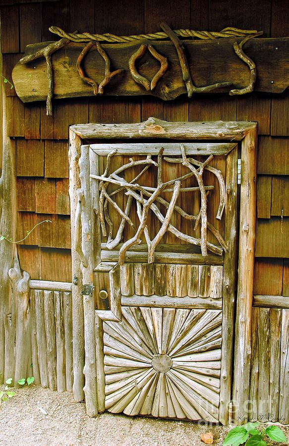 The Garden Shed Door, lots of character!