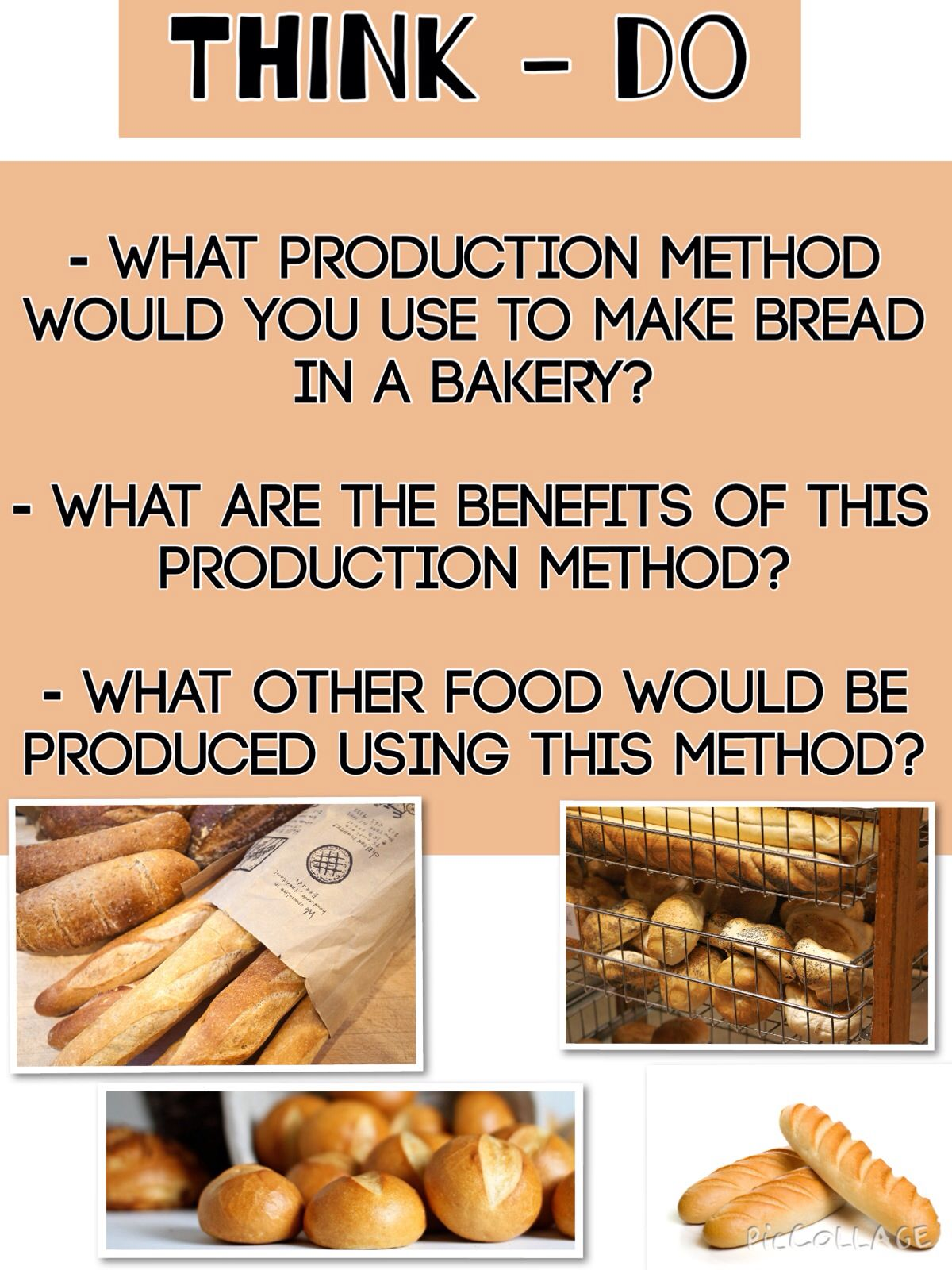 Production methods Food, Cooking and baking