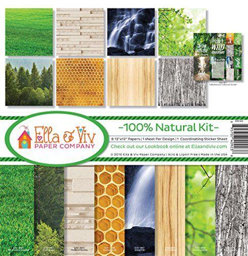 Ella  Viv by Reminisce EAV923 Ella  Viv 100 Natural Scrapbook Collection Kit ** For more information, visit image link.Note:It is affiliate link to Amazon.