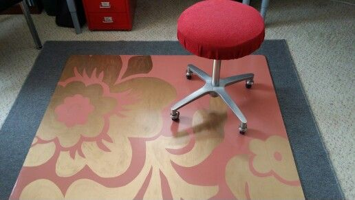Diy Rolling Chair Mat Made Of Painted 1 4 Mdf Six Coats Of Water