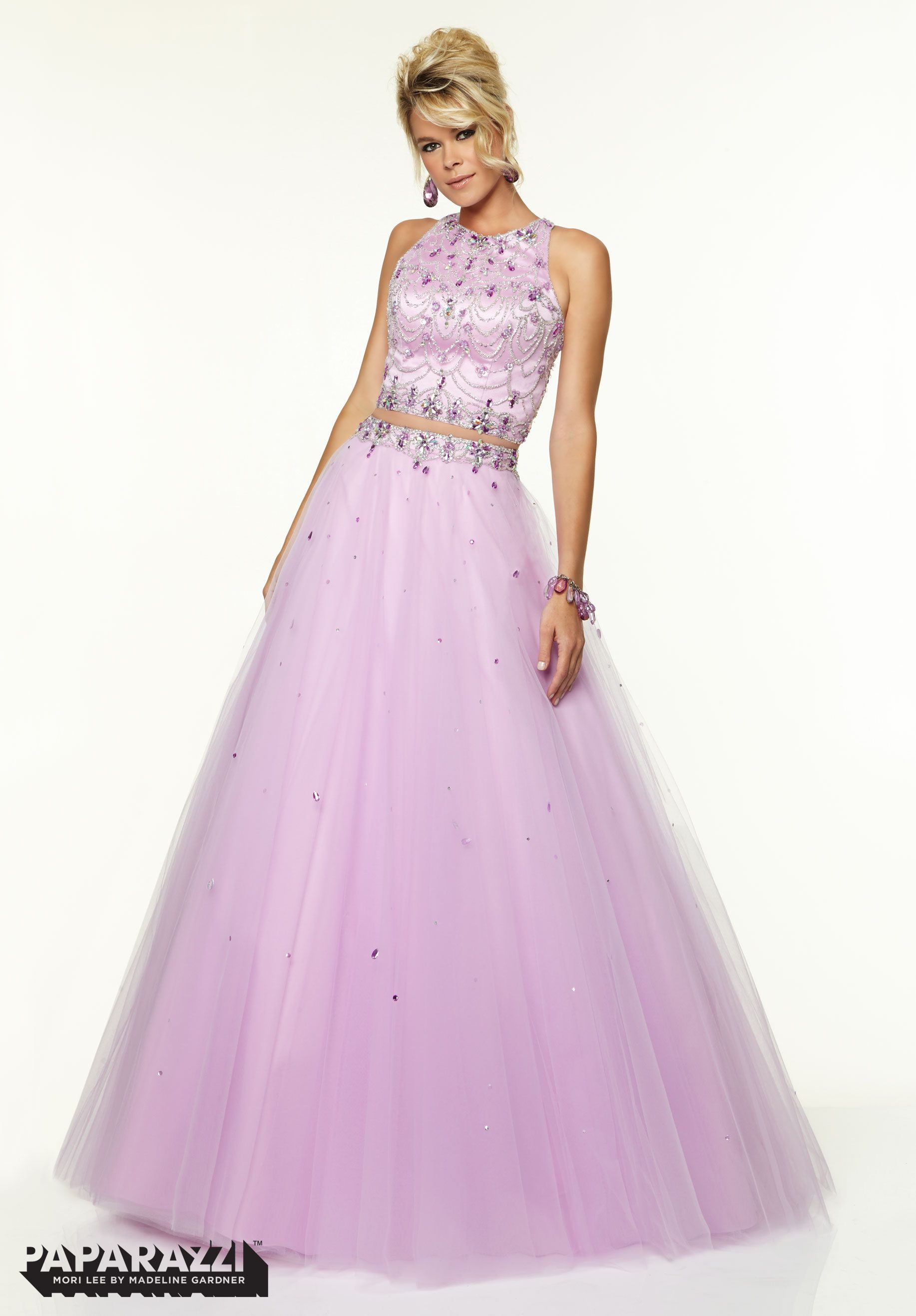 Prom Dresses / Gowns Style 97116: Two Piece Tulle with Crystal ...