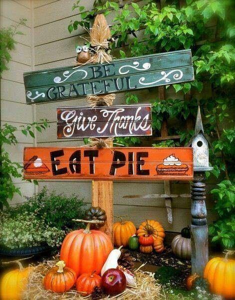 Thanksgiving Decor Blessed Sign Fall Decor Pumpkin Sign