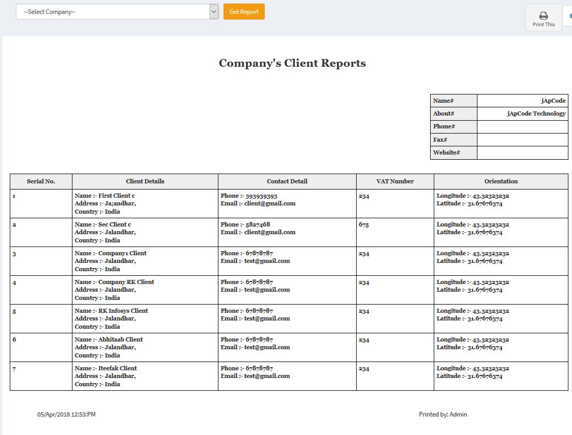 jApCode CRM Open Source Asp net Mvc 5 (Company Management