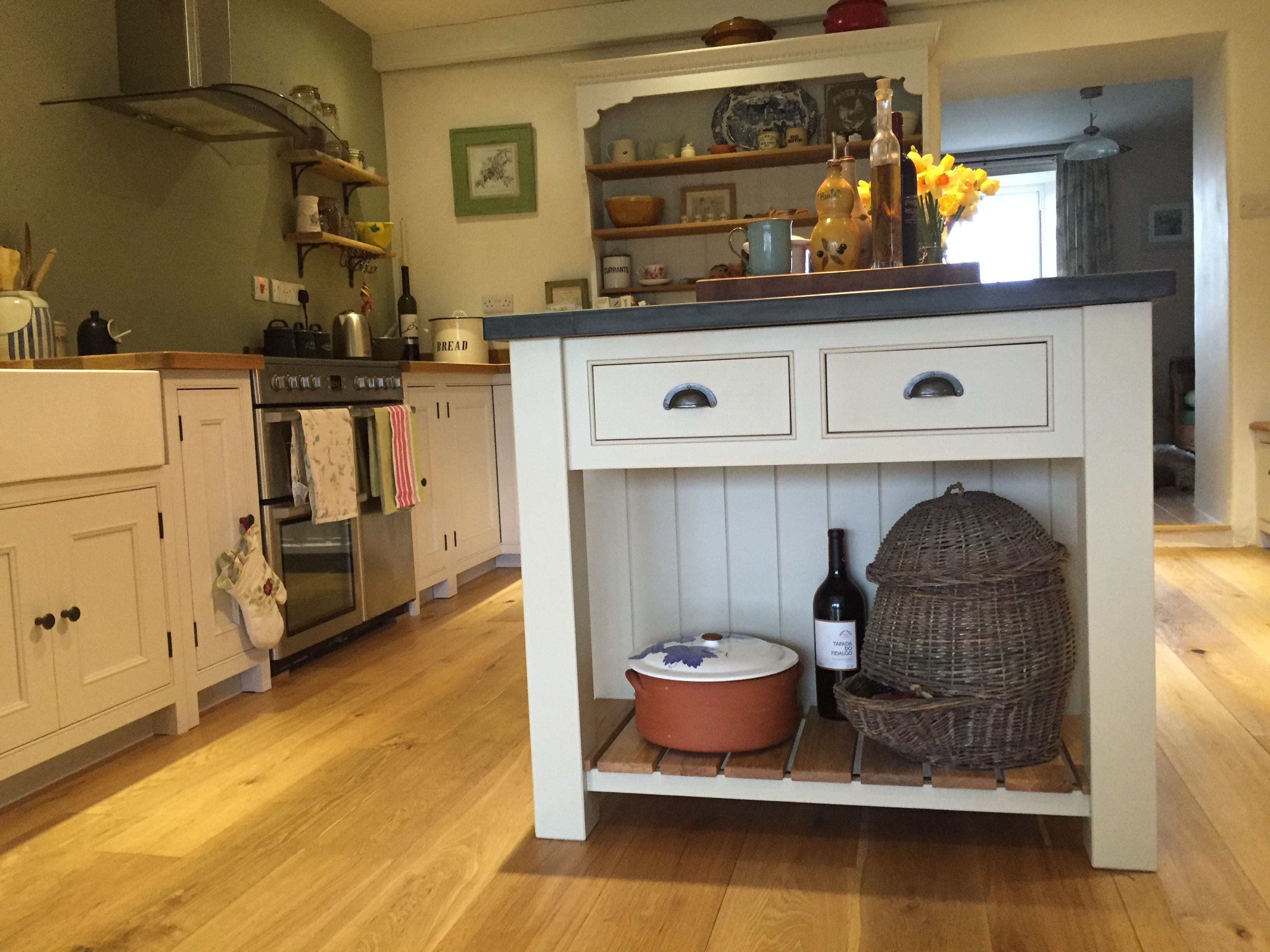 A lovely example of a beautiful handmade kitchen, with off
