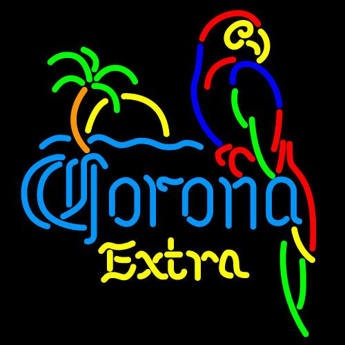 Neon Bar Light Repair: Corona Extra Parrot With Palm Neon Beer Signs