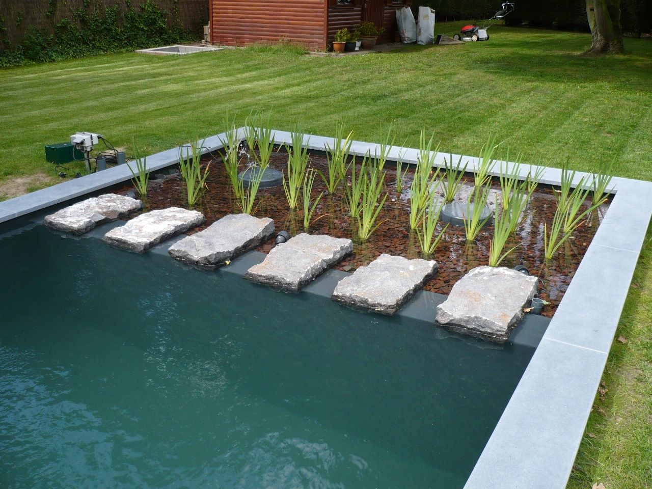 Zwemvijvers tuin pinterest zwemvijvers vijvers en for Moderne vijvers foto s