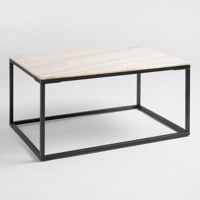 World Market Marble Knox Coffee Table Rustic Outdoor Furniture