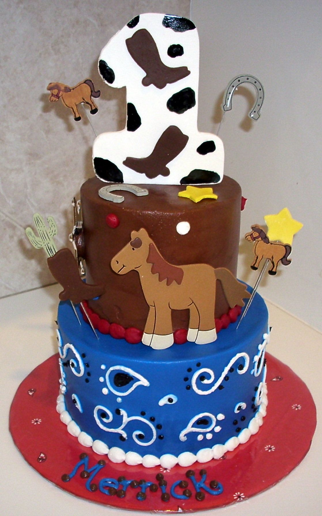 cake idea for toddler party feliz happy birthday Pinterest