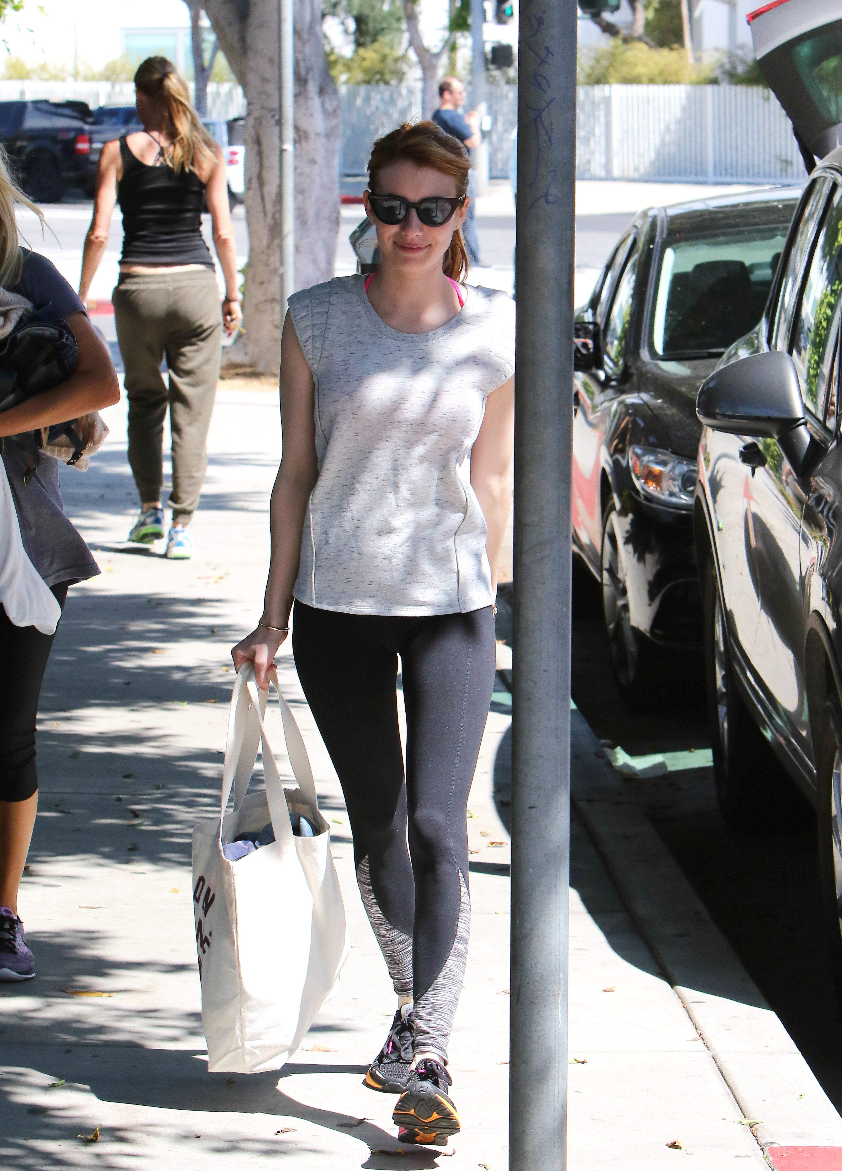 Emma Roberts Leaving the Gym in LA, 04/05/16