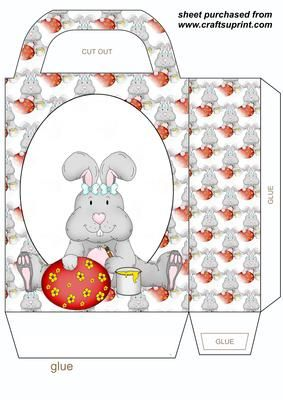 Easter bunny gift bag 4 negle Images