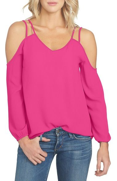 95d84a519b1df 1.STATE Cold Shoulder Crepe Blouse available at  Nordstrom