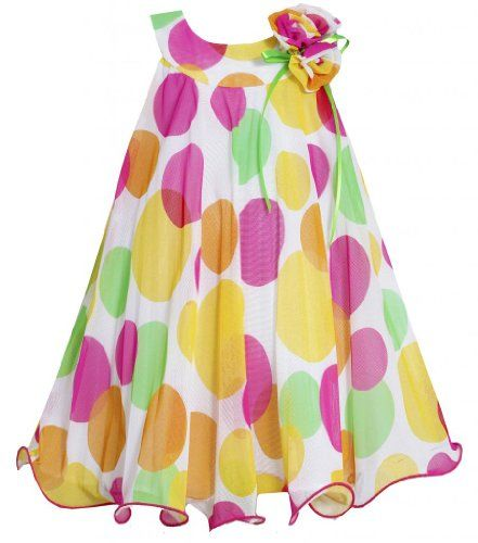 Yellow Pink U-Neck Multi Dot Mesh Overlay Trapeze Dress YL3NA, Yellow, Bonnie Jean Little Girls 2T-6X Bonnie Jean,http://www.amazon.com/dp/B00IAYVNOK/ref=cm_sw_r_pi_dp_LVL9sb0XHCCXV0EC