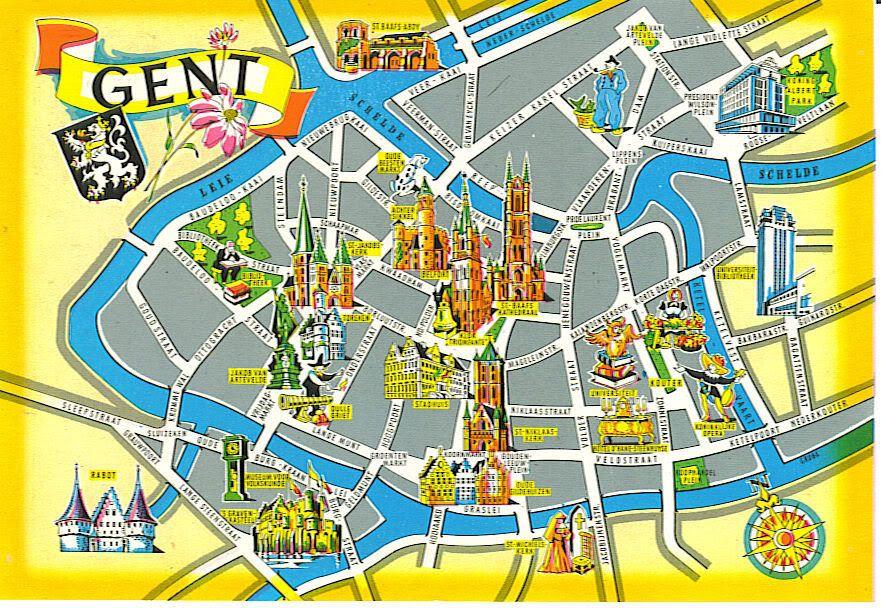 Afbeeldingsresultaat voor Map gent CITY GUIDE Gent Pinterest