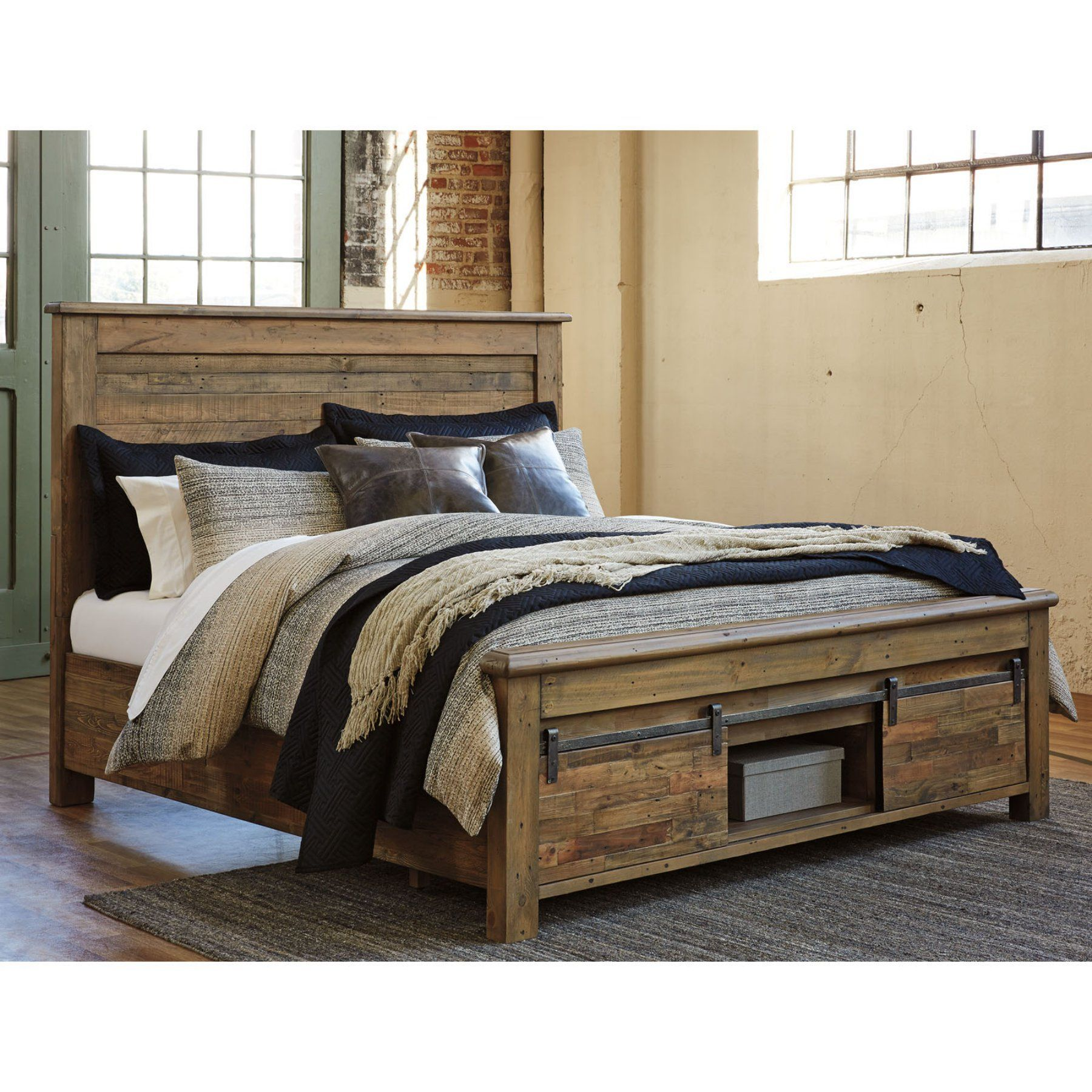 Signature Design By Ashley Sommerford Storage Panel Bed King