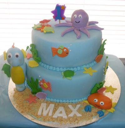 seacreaturecake2jpg 400410 Tortas decoradas Pinterest