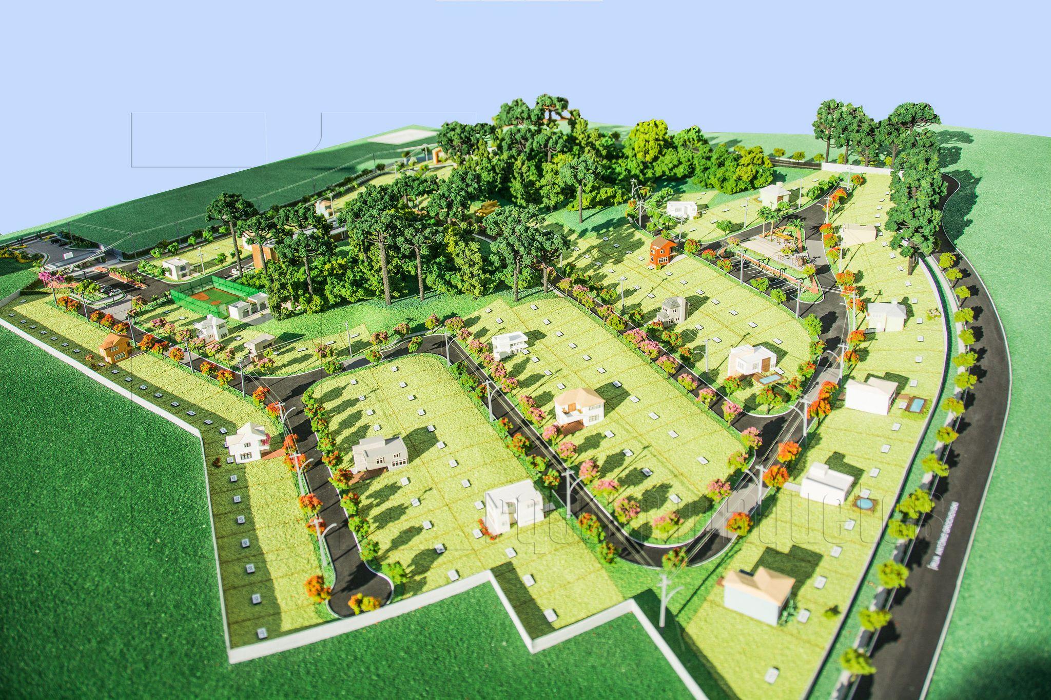 Loteamento Landscape Design Plans City Farm Scale Model Building