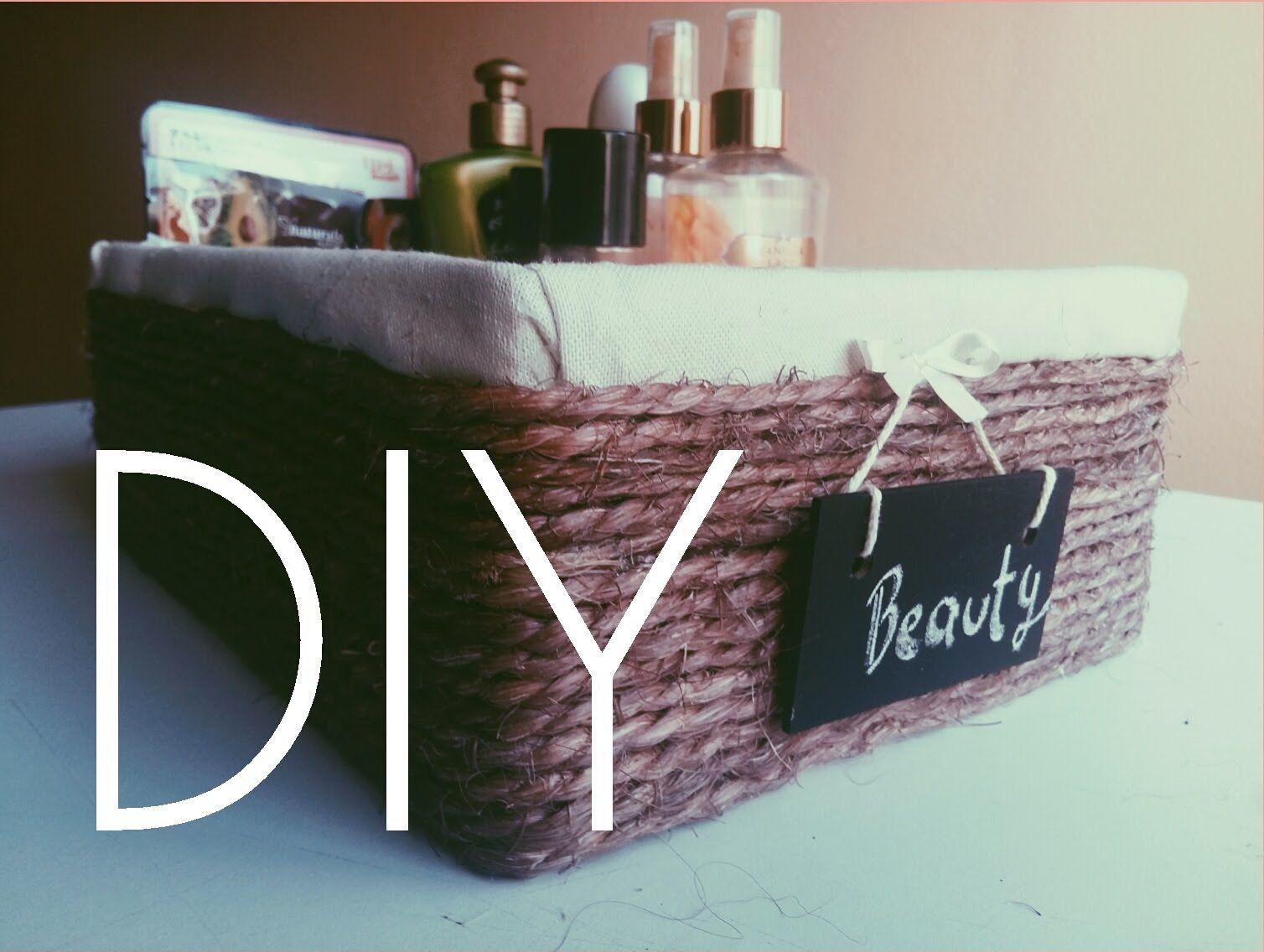 Diy cesta canasta con caja de zapatos ideas creativas - Manualidades con cajas ...