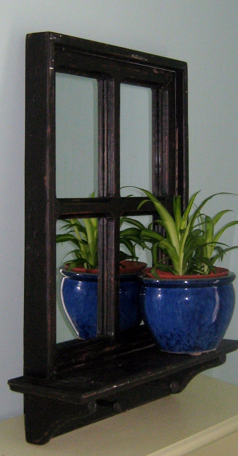 This listing is for a Black Mirror Shabby Chic Mirrored