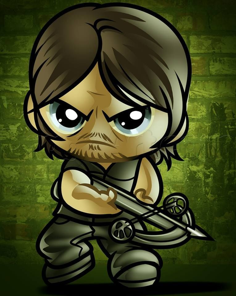 Twd Daryl Dixon With Images Chibi Drawings Walking Dead