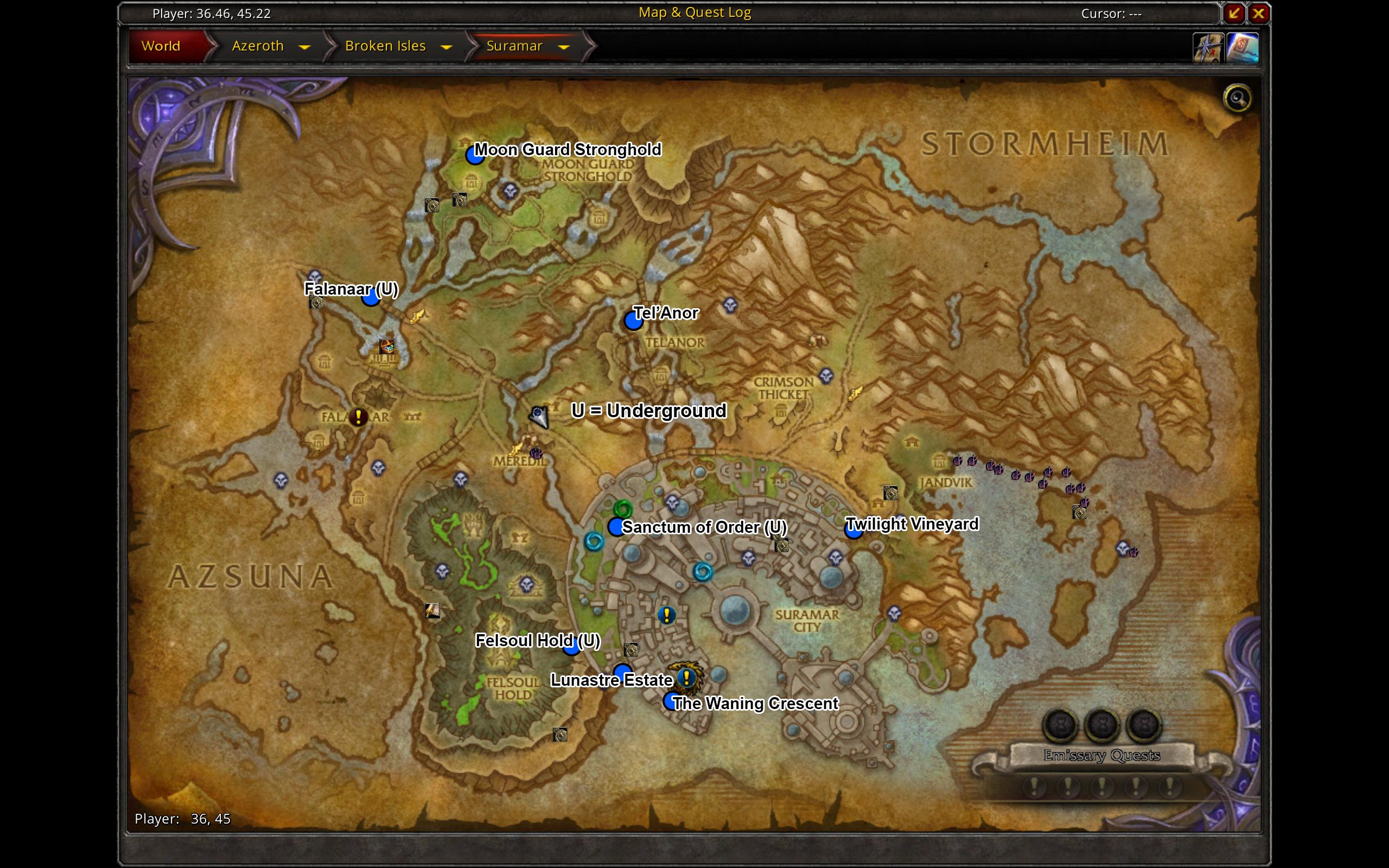 Complete Suramar Teleport Map Worldofwarcraft Blizzard Hearthstone Wow Warcraft Blizzardcs Gaming Map Environment Map World Of Warcraft