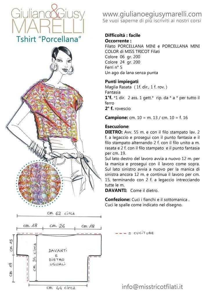 Porcellana | Maglia uncinetto | Pinterest | Tejido, Patrones de ...