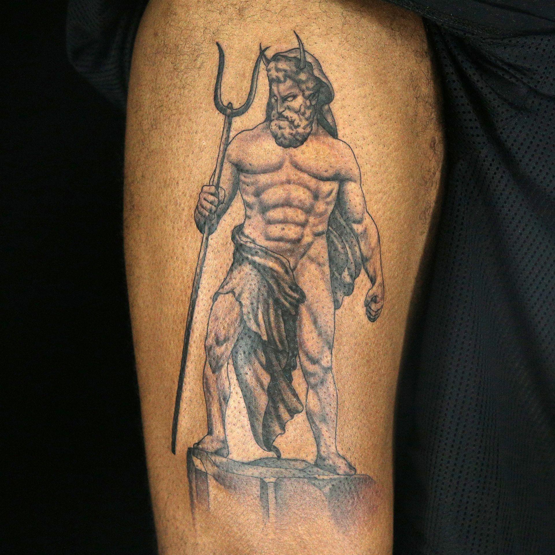 a26492d07 Hades Tattoo by Amanda Leitch | Mythical God Tattoos | Hades tattoo ...