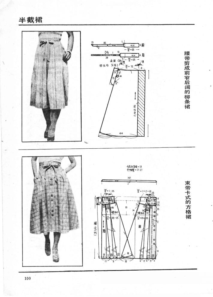 Longuette Skirt Construction Patterns Arven Izim Evi Pinterest