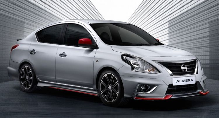 Facelifted Nissan Almera Gets Nismo Version In Malaysia Carscoops Nissan Almera Nissan Nissan Sunny