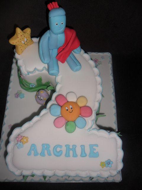 In The Night Garden Iggle Piggle No2 Birthday Cake Baby Birthday Cakes Cake 2 Birthday Cake