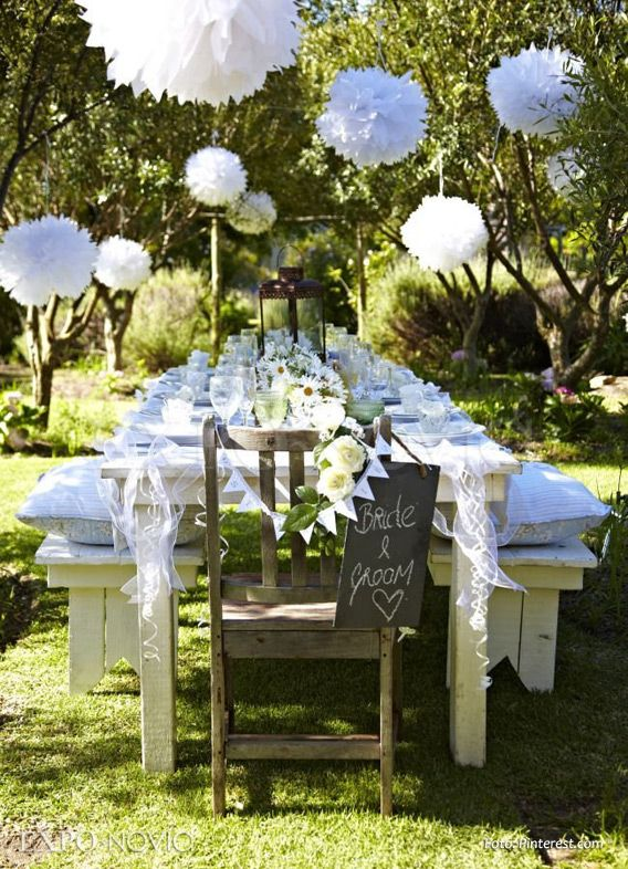 Decoraci n pinterest for Boda en jardin de noche como vestir