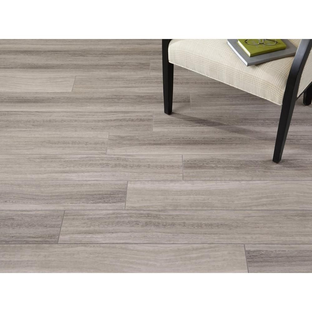 Nucore gray tile plank with cork back 100376854 - Can you use laminate flooring in a bathroom ...