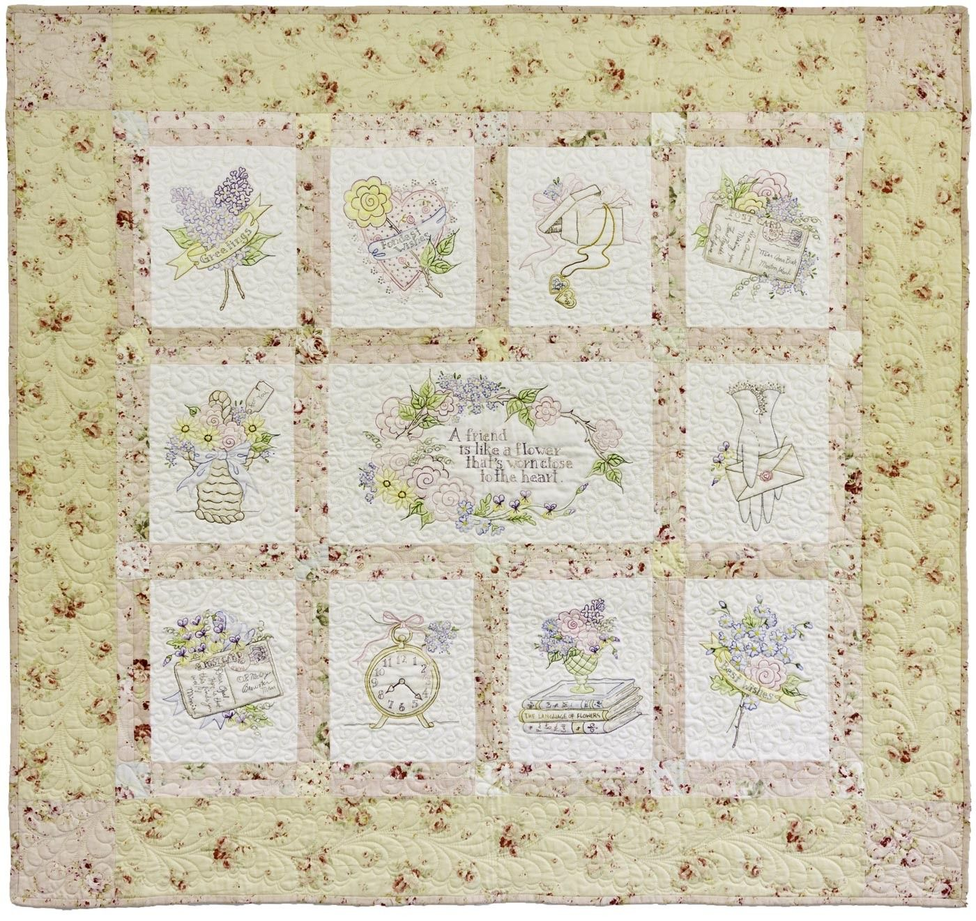 Fondest Regards by Crabapple Hill. | Crabapple hill embroidery ...
