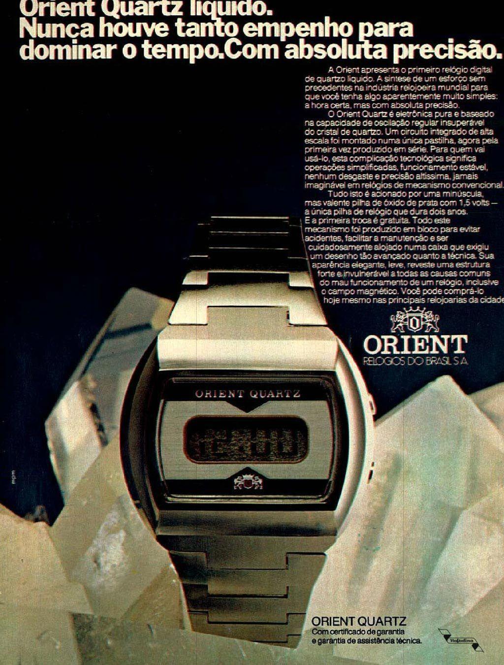 Relógio Orient Brasil Anos70 Retro Anunciosantigos Vintageads Relógios Incríveis Relogios Relogio Orient