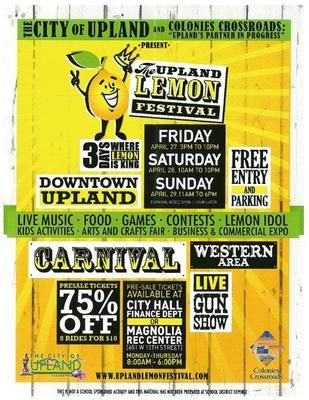 Come Join Kessler Alair Insurance At The Upland Lemon Festival This Weekend Festival Game Food Upland
