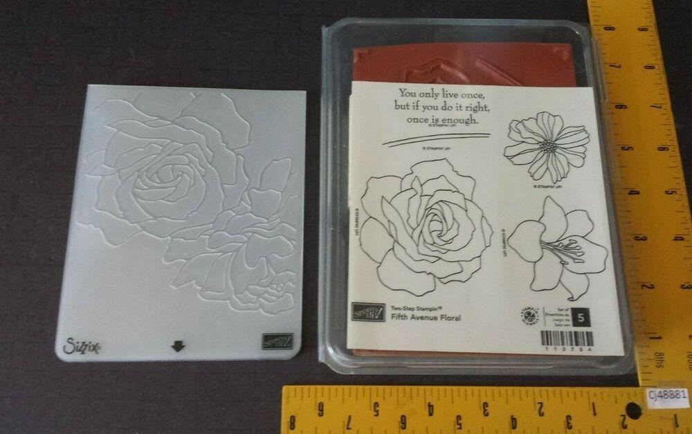 Stampin Up FIFTH AVENUE FLORAL Stamp Set  MANHATTAN FLOWER Embossing Folder